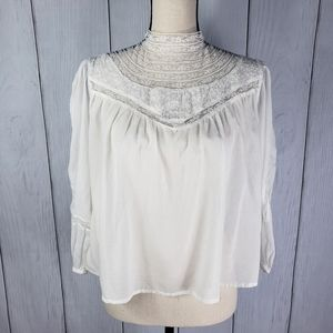UO Lace Collar Top